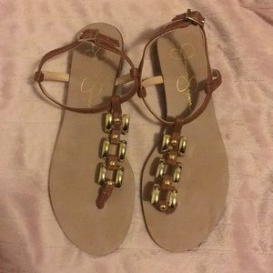 Brown Thong Sandals